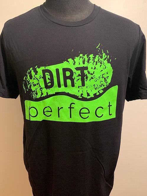 Black and Green Large logo T-Shirt