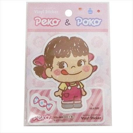 Fujiya Peko Plastic Sticker