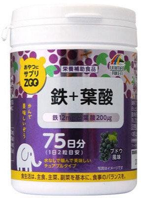 Supplement ZOO Series For Snacks Iron + Folic Acid 150T