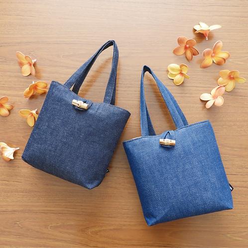 DENTRA Japanese traditional fabric mini tote bag - Kurashiki