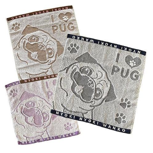 Pug Hand Towel