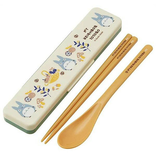 TOTORO Spoon, Chopsticks with case 18cm
