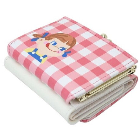 Fujiya Peko Tri-fold wallet - gingham