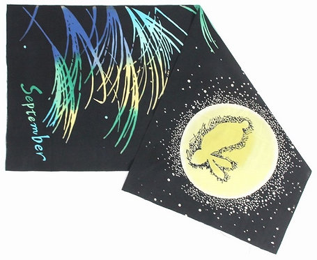 DENTRA Japanese hand towel - September 15th Full moon Night & Rabbit