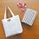 Thumbnail: DENTRA Japanese traditional fabric mini tote bag - Kamedajima