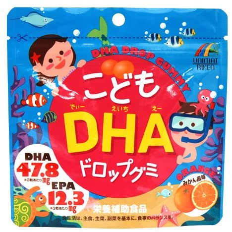 DHA Drop Gummy For Kids Orange Flavor 90pcs