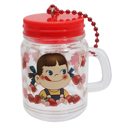 Fujiya Peko Mini Drink jar Keychain