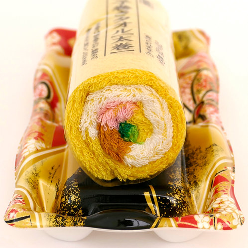 Norimaki Sushi Roll Towel - Egg roll 34cm with case
