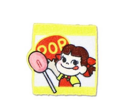 Fujiya Peko embroidery sticker- POP Candy