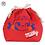 Thumbnail: Fujiya Peko Reversible Drawstring bag - Red