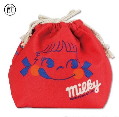 Fujiya Peko Reversible Drawstring bag - Red