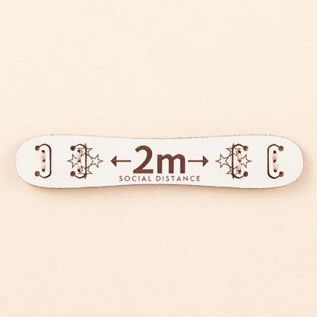 Ojaga Design SOCIAL DISTANCE Mask Belt 2 Metre Apart English