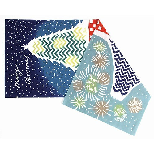 DENTRA Japanese hand towel- December Merry Christmas & Happy New Year