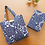 Thumbnail: DENTRA Japanese traditional fabric mini tote bag - Bushu
