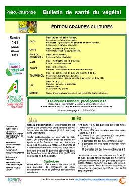 bulletin santé du végétal gtandes cultures