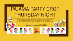 September Pajama Party Crop