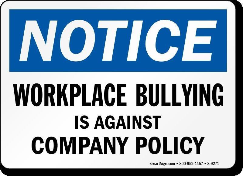 Work Place Bullies