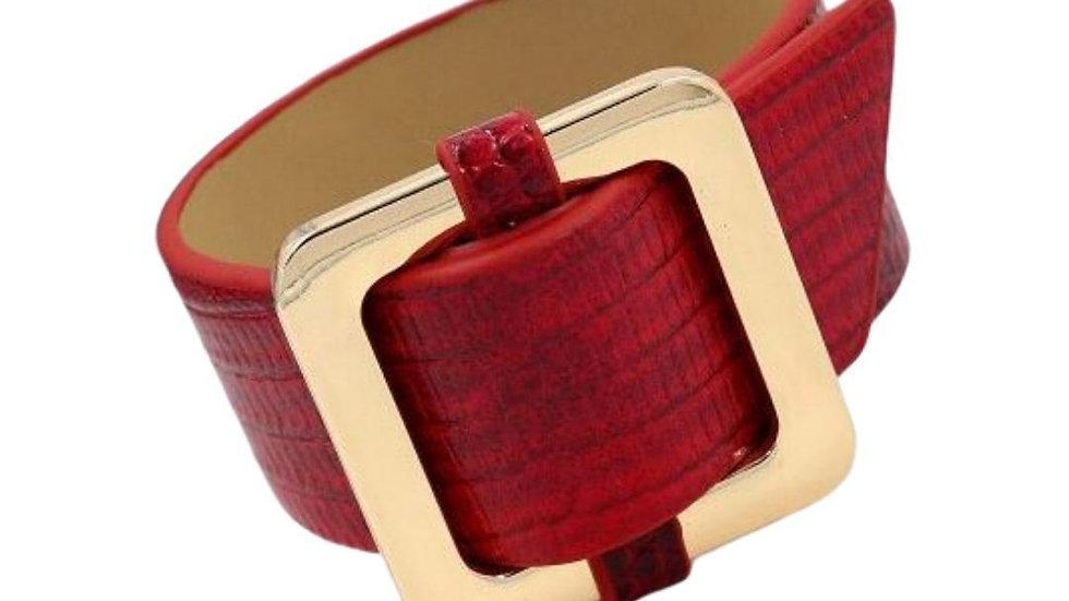 Square Lock Bracelet -Red