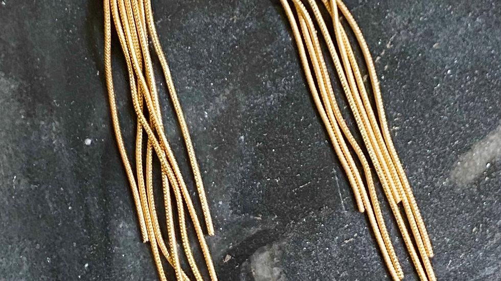 Moon Streams Earrings, Gold