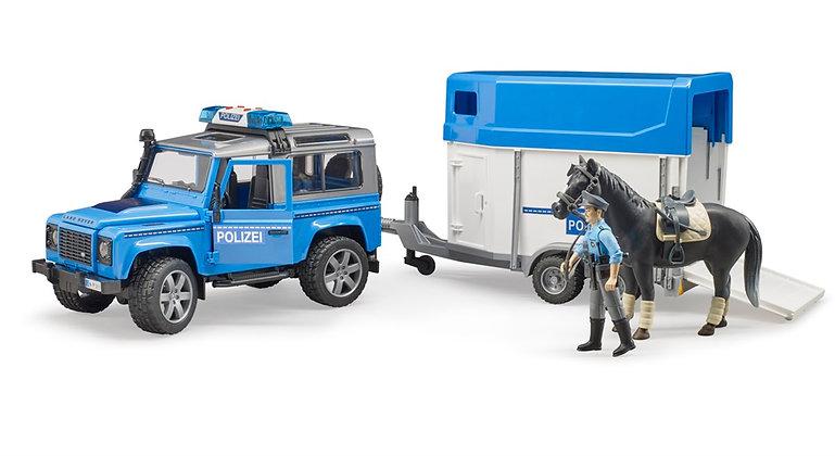 Bruder Land Rover Polis Aracı At Nakil Römorku