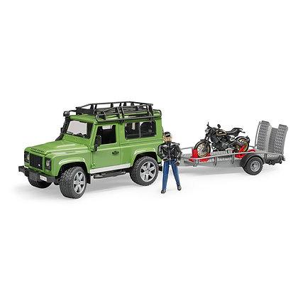 Bruder Land Rover Jeep, Ducati Motorsiklet Ve Sürücüsü