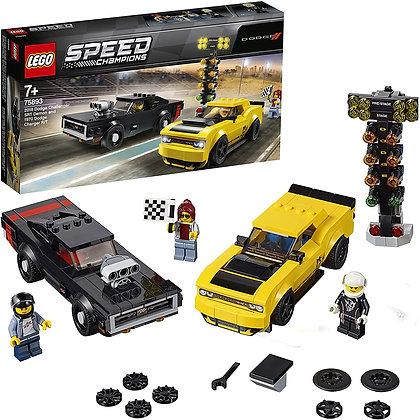 LEGO® Speed Champions 2018 Dodge Challenger SRT Demon ve 1970 Dodge Charger