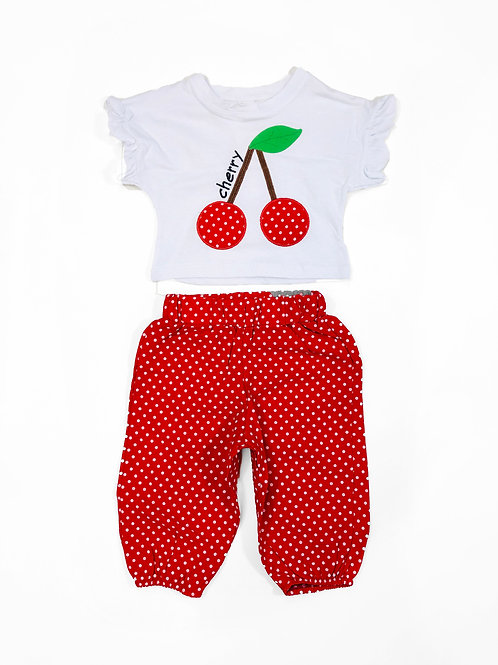 Cherry dot set, red