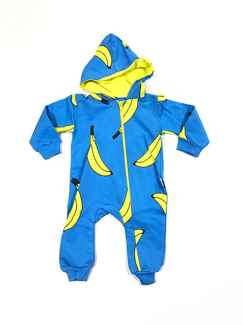 Banana onesie blauw