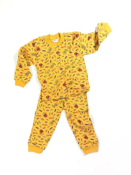 Pyjama doodle okergeel