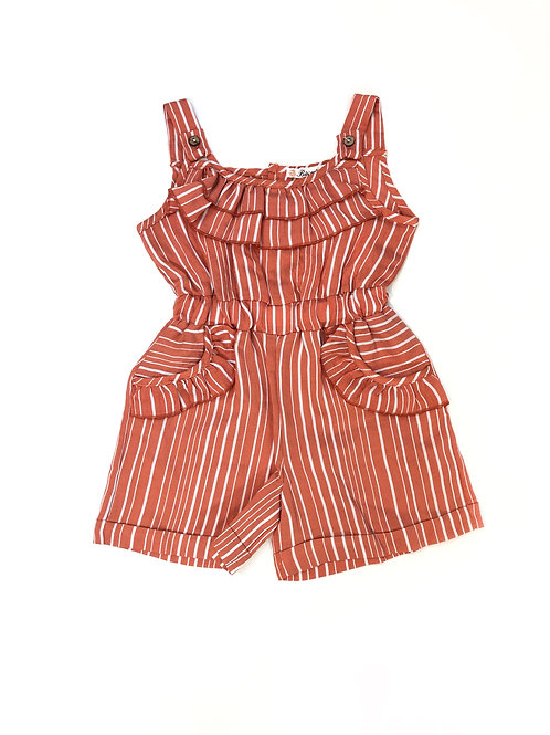 Playsuit red striped