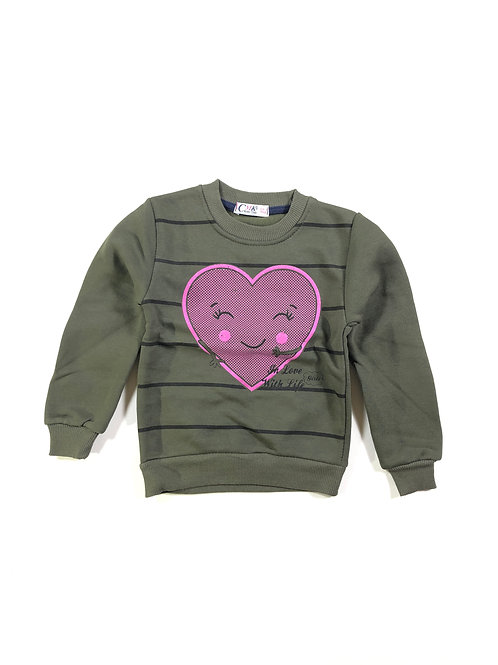 Sweater smiling heart, groen