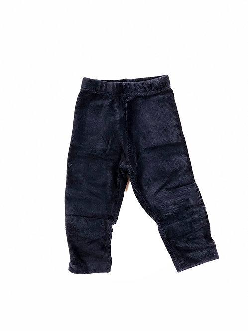 Ribfluweel legging donkerblauw
