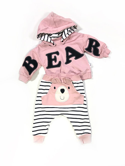 Baby bear set roze