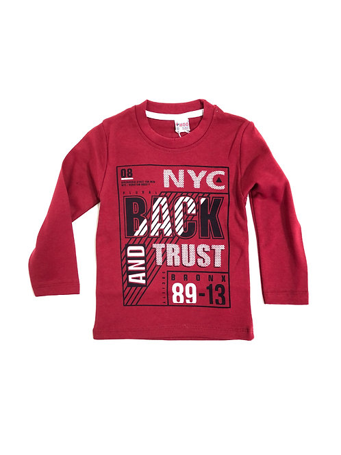 NYC shirt rood