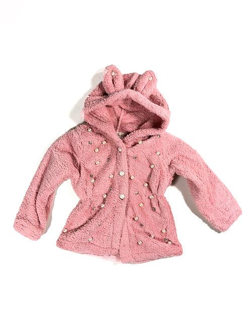 Bont vest/jas  parels roze