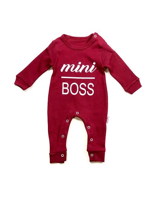 Onesie mini boss Bordeaux