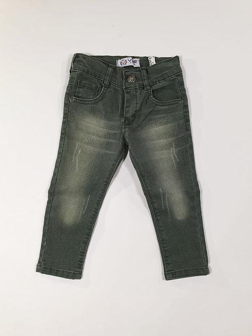 Spijkerbroek, groene wassing