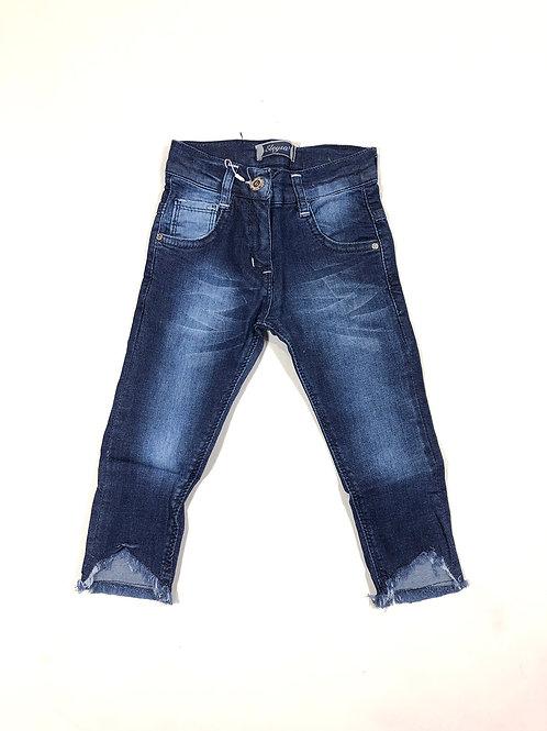 Skinny jeans rafels donkerblauw