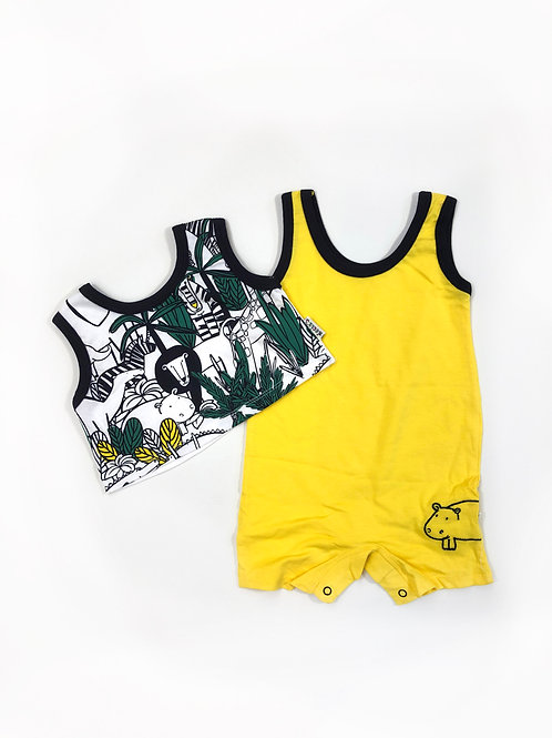 Jungle twinset geel