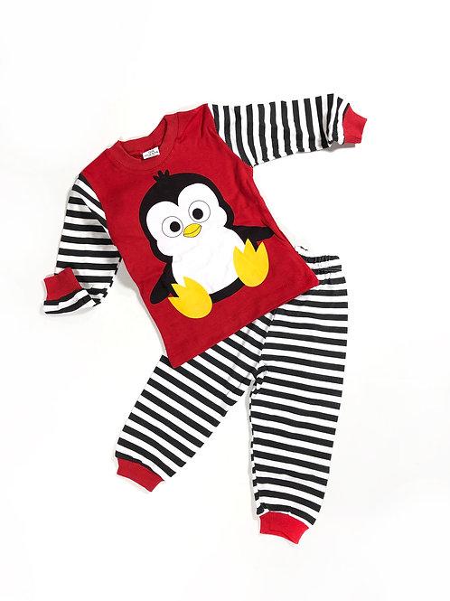 Pyjama Red Pinguin