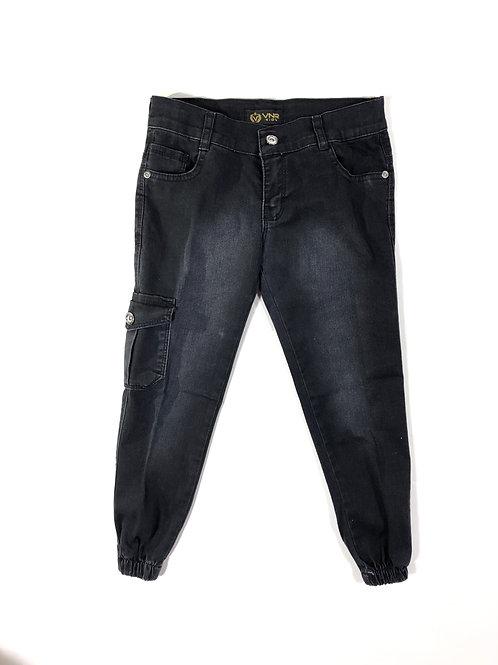 Cargo jeans zwart
