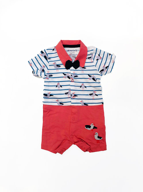 Zeemeeuw baby suit red