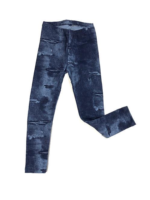 Jeans legging distressed