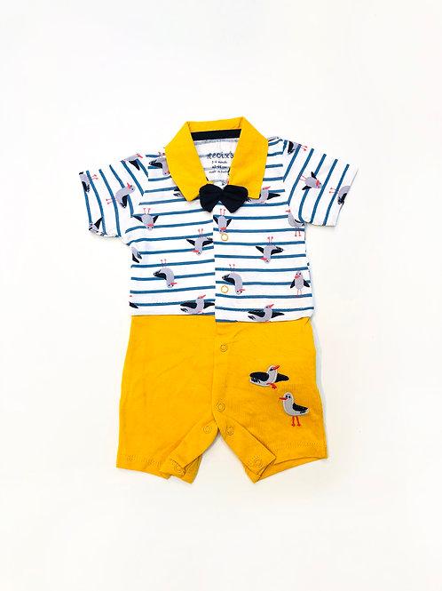 Zeemeeuw baby suit yellow