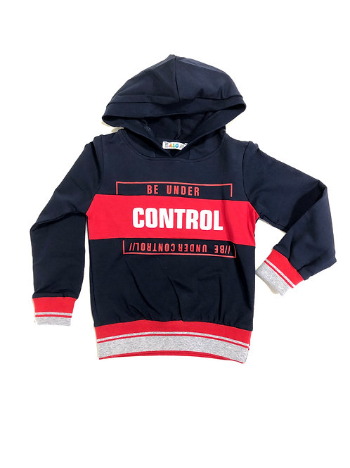 Under control sweater rood/donkerblauw