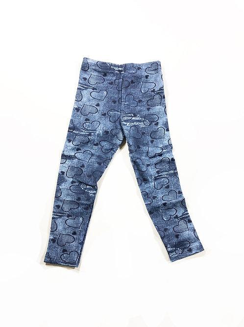 Jeans legging distressed met harten