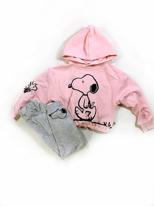 Snoopy joggingpak peachroze