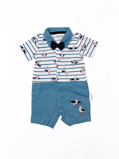 Zeemeeuw baby suit blue