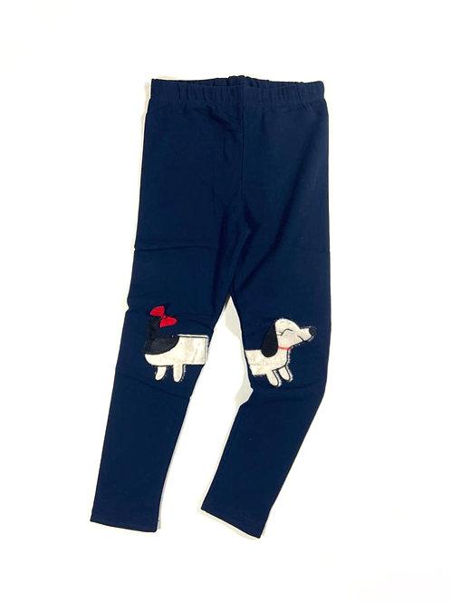 Legging teckel blauw