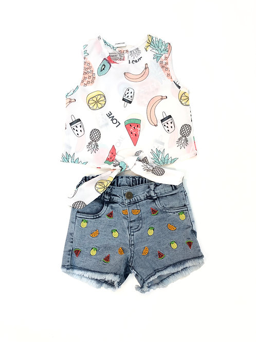Fruity jeans set